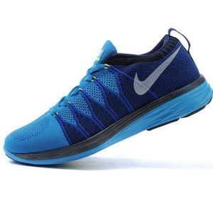 MEN'S NIKE FLYKNIT LUNAR 2 RUNNING SHOES VIVID